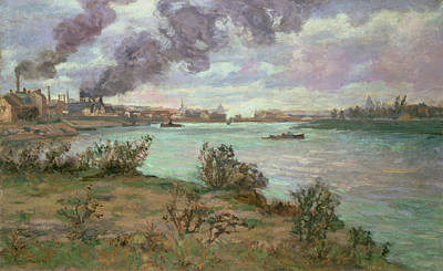 The Confluence Of The Seine And The Marne At Ivry Art Print