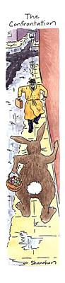 Easter Drawing - The Confrontation by Danny Shanahan