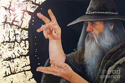 Conjurer Painting - The Conjurer by J W Baker