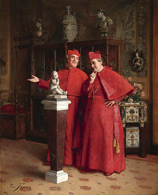 Catholic For Sale Painting - The Connoisseurs by Jose Frappa