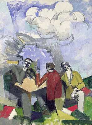 The Conquest Of The Air Print by Roger de La Fresnaye