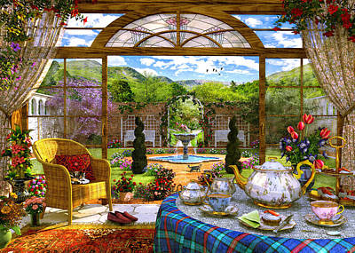 Conservatory Painting - The Conservatory by Dominic Davison