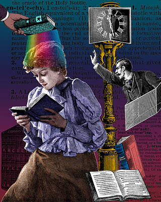 Digital Art - The Constant Reader by Eric Edelman