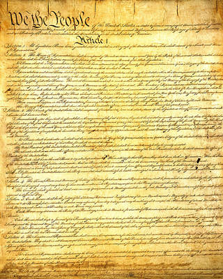 Party Mixed Media - The Constitution Of The United States Of America by Design Turnpike