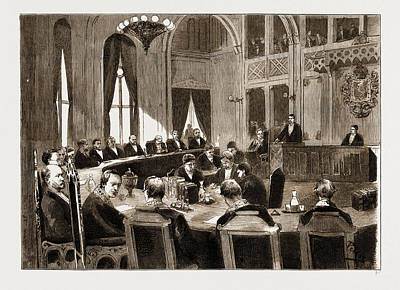 Norway Drawing - The Constitutional Crisis In Norway, 1883 View Of The Court by Litz Collection