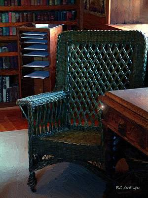Bookshelf Painting - The Consulting Room by RC DeWinter