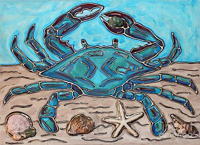 Painting - The Content Crab by Cynthia Snyder