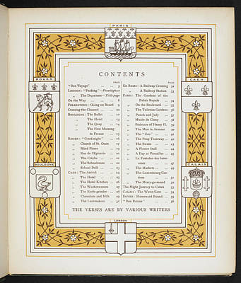 Abroad Photograph - The Contents Page Of 'abroad' by British Library