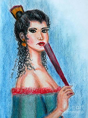 Drawing - The Contessa by Lora Duguay