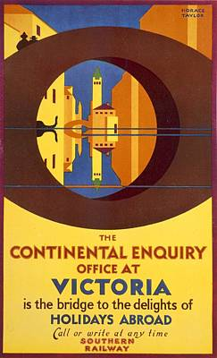 Mirror Drawing - The Continental Enquiry Office by Horace Taylor