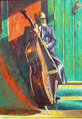 the Contrabassist Art Print by Bonifacio Sulprizio