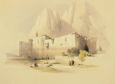 Saint Catherine Painting - The Convent Of St. Catherine by David Roberts