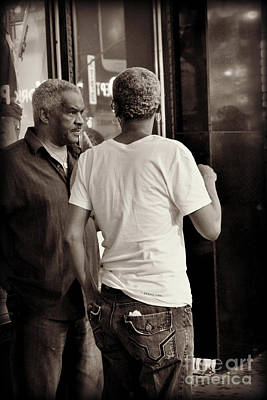 Photograph - The Conversation - Times Square - New York by Miriam Danar