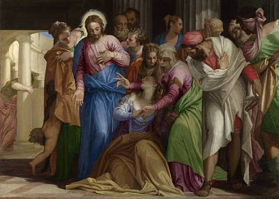 Conversion Painting - The Conversion Of Mary Magdalene by Paolo Veronese