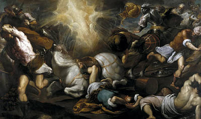 Conversion Painting - The Conversion Of Paul by Palma il Giovane