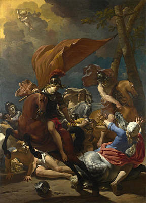 Conversion Painting - The Conversion Of Saint Paul by Karel Dujardin