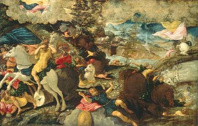 Conversion Painting - The Conversion Of Saint Paul by Tintoretto