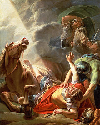 Conversion Painting - The Conversion Of St Paul by Nicolas Bernard Lepicie