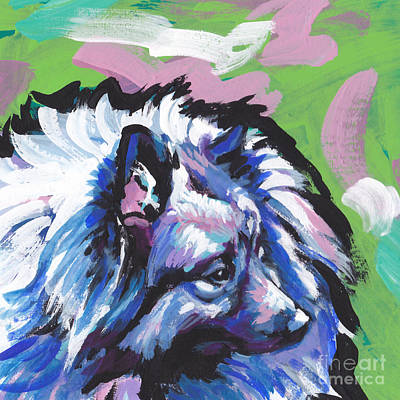 Dog Pop Art Painting - The Cool Kesha by Lea S