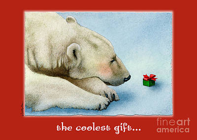 Christmas Cards Painting - The Coolest Gift... by Will Bullas