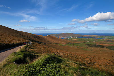 Portmagee Wall Art - Photograph - The Coomanaspig Pass, Overlooking by Panoramic Images