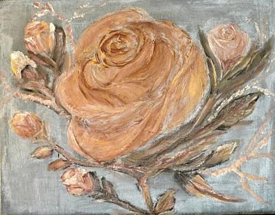 The Copper Rose Art Print by Corina Lupascu