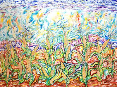The Corn Fields Original by Susan Schiffer