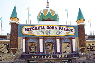 Randall Nyhof Royalty Free Images - The Corn Palace in Mitchell South Dakota Royalty-Free Image by Randall Nyhof