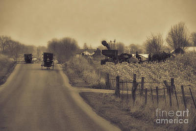 Amish Photograph - The Corn Picker by David Arment
