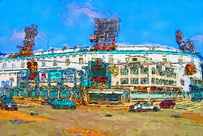 Detroit Tigers Art Painting - The Corner by John Farr