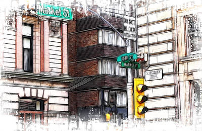 Photograph - The Corner Of 15th And Market by Fiona Messenger