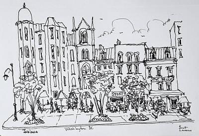 Washington Dc Street Scene Photograph - The Corner Of F And 9th Street by Richard Lawrence
