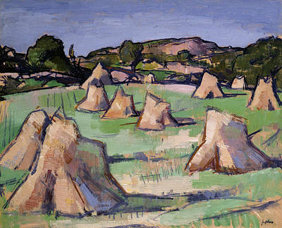 Outhouse Painting - The Cornfield, Douglas Hall, 1919 by Samuel John Peploe