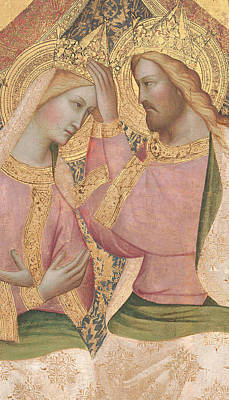 Trinity Painting - The Coronation Of The Virgin by Agnolo Gaddi