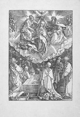 Digital Art - The Coronation Of The Virgin by Albrecht Durer