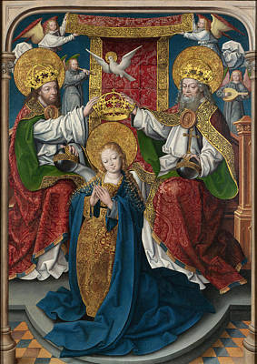 Catholic For Sale Painting - The Coronation Of The Virgin by Master of Cappenberg