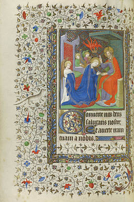 1420 Painting - The Coronation Of The Virgin Unknown Paris by Litz Collection