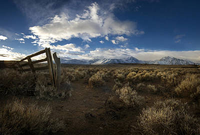 Hot Creek Photograph - The Corral by Sean Foster