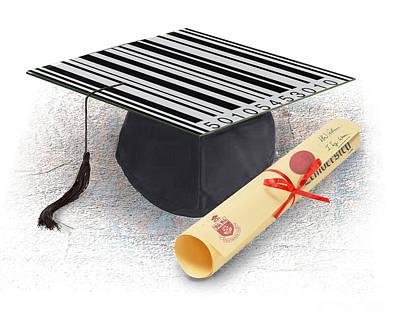 Diploma Digital Art - The Cost Of Education-2 by Chris Van Es
