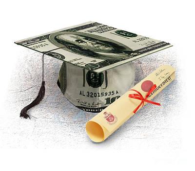 Diploma Digital Art - The Cost Of Education by Chris Van Es