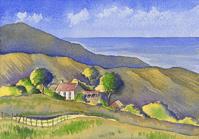 Painting - The Cottage At The Top Of The Hill by Kate Shannon