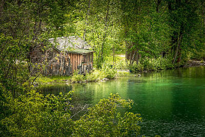 The Cottage By The Lake Art Print