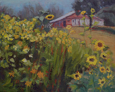 Painting - The Cottage Garden by Gina Grundemann