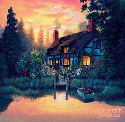 The Cottage Art Print by MGL Studio - Chris Hiett