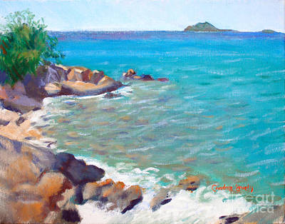 Saba Painting - The Cottage View by Candace Lovely