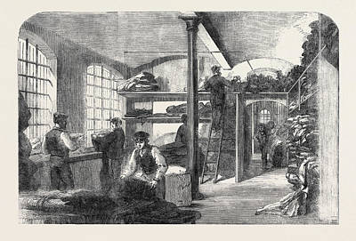 The Cotton Famine Receiving Clothes At Bridewell Hospital Art Print by English School