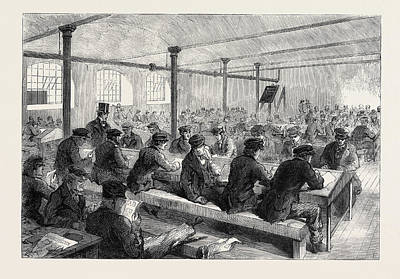 Manchester Mill Drawing - The Cotton Famine School For Mill Operatives At Mr by English School