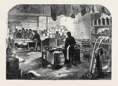 Manchester Mill Drawing - The Cotton Famine Shop For Mill Hands At Mr by English School