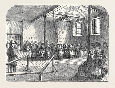 The Cotton Famine Waiting Room At The District Provident Art Print by English School