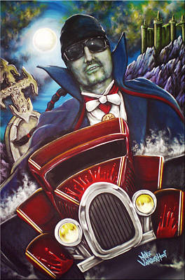 Pawn Painting - The Count Cool Rider by Mike Vanderhoof